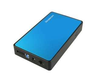 "Simplecom SE325 Tool Free 3.5"" SATA HDD to USB 3.0 Hard Drive Enclosure Blue"