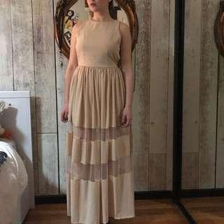 Neutral Long Dress