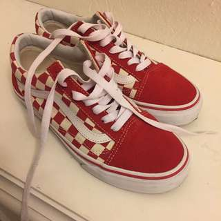 vans Oldskool Red Checkered