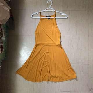 F21 Mustard Skater dress