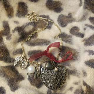 Vintage Heart Long Necklace