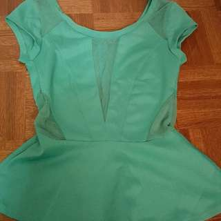 Mint Guess Peplum Top - XS