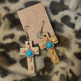 (SALEEE!!) Diamond Cross Earrings Diamond Cross Earrings