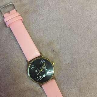 Pink Cat Watch