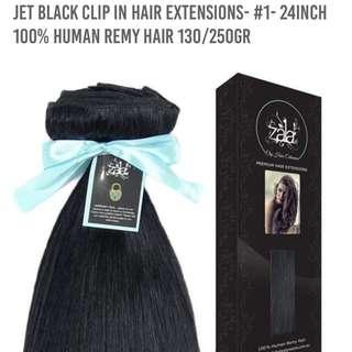 ZALA JET BLACK 24 INCH HAIR EXTENSIONS