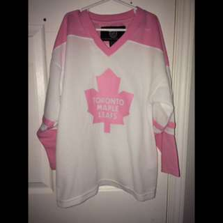 Pink Maple Leaf Hockey Jersey