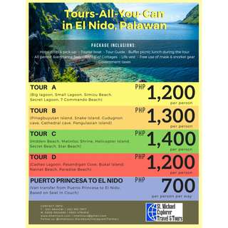 Tours-All-You-Can in El Nido, Palawan!