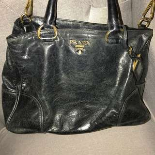 Prada Leather Black Handbag