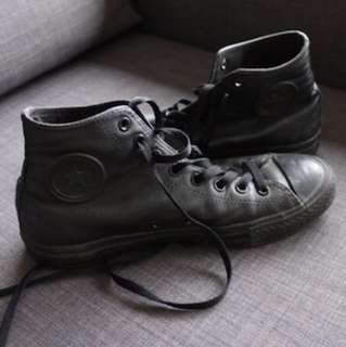 Converse Leather High (black)