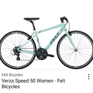 felt verza speed 50 performance hybrid bike womens