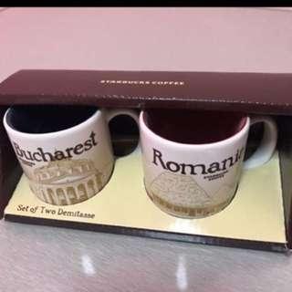 Starbucks Romania & Bucharest Demi Mugs