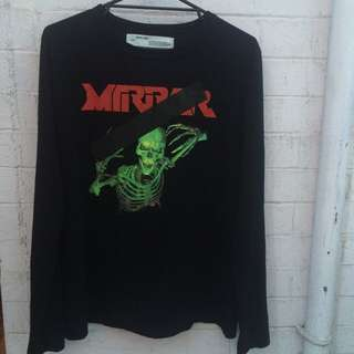 Off-White Mirror / Skull Longsleeve M