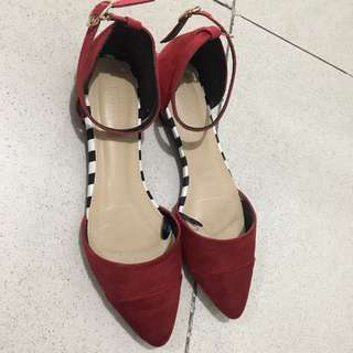 Parisian Red Flat Shoes