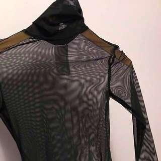 American Apparel Mesh Turtleneck Bodysuit