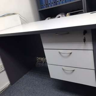 Office Table With 3 Fixed Drawers