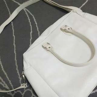 Faux Snake skin White Bag