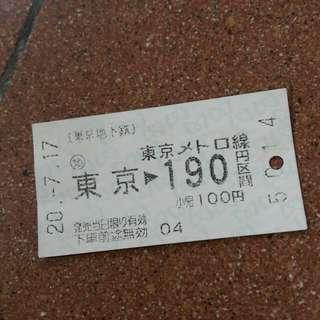 東京地下鐵車票