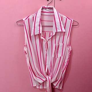 Stripes Collar Blouse