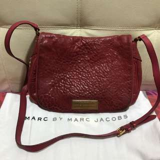 Marc by Marc Jacob Washed Up Nash Flap Crossbody In Raspberries