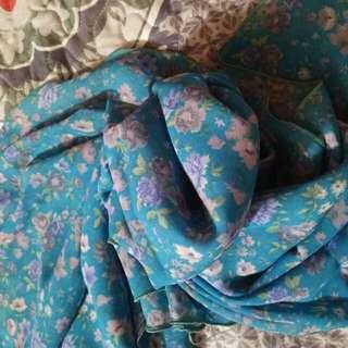 Blue Chiffon Shawl