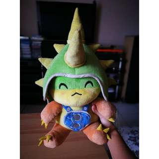 AUTHENTIC League of Legends Rammus Doll with Detachable Headgear (Official GARENA merchandise)
