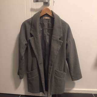 GREY OVER SIZE BLAZER