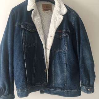 Vintage Wrangler Sherpa Lined Denim Jacket