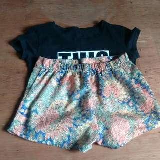unbranded short and statement shirt bundle