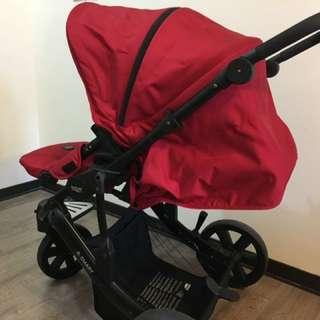 Britax B-smart 進口紅色嬰兒推車