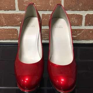 stuart weitzman (red leather heels size 8.5)