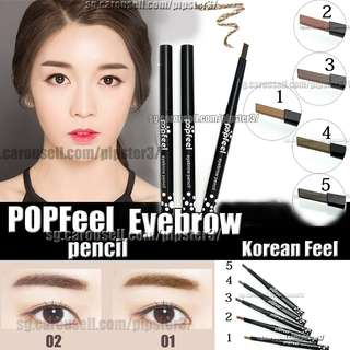 Eyebrow Pencil Popfeel  Drawing Pencil Waterproof, Durable, Lasting Make up Cosmetics