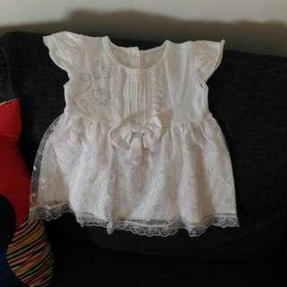 Dress Baby Putih Lucu