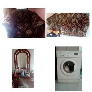 Mesin Cuci , Sofa 2bangku , Dan Meja Rias