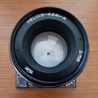Helios 44m-4 58mm F2 M42 Fuji Mount Vintage Lens