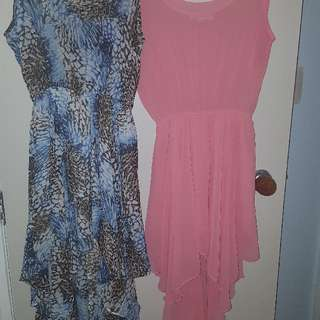 2 Light Weight Floaty Dresses Great For A Holiday Or Casual Wear.