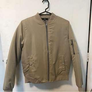 Creme Bomber Jacket Size 8 - 10