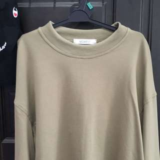 Army Green Trumpet Long-sleeve Tops
