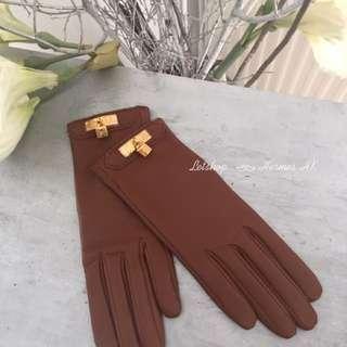 Hermes Kelly Lock Gloves