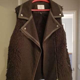 Costes Wool Fur Vest