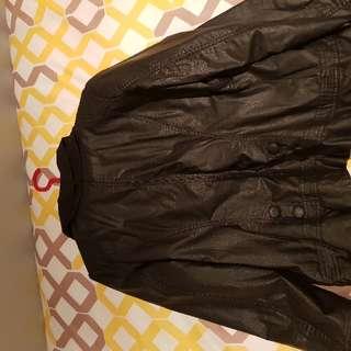 Frilled Leather Jacket