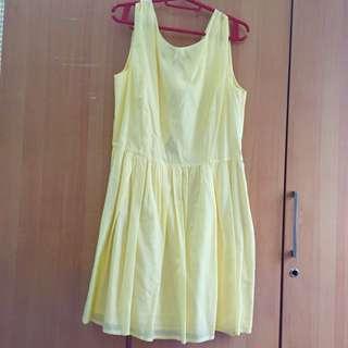 MANGO Pastel Yellow Dress