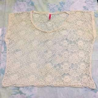 cover up lace white