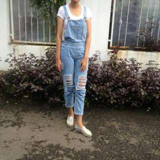 Jumpsuit Ripped Jeans