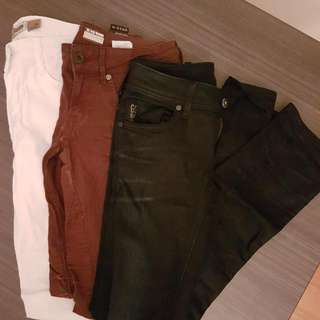 3x Jeans Stradivarius And GSTAR Size 26/27
