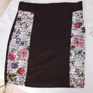 H&M Skirt with Floral Details