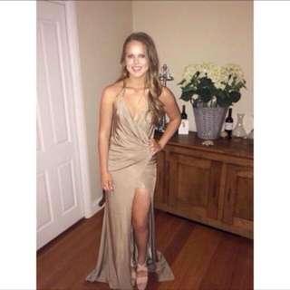 Meshki Gold Formal Dress