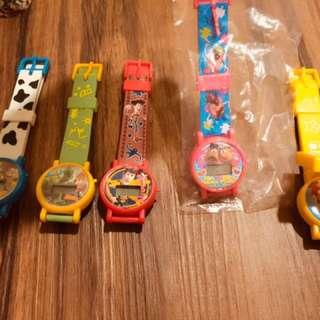 扭蛋。玩具總動員/瑪麗歐手錶