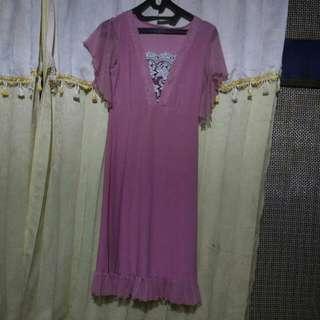 Dress Pink Wanita
