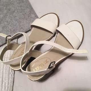 White Lipstik Heels