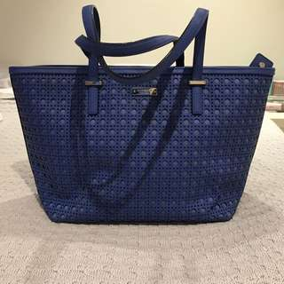 Kate Spade Blue Leather Bag